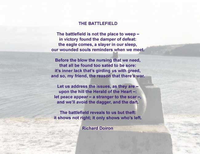 The Battlefield, a Peace Poem by Richard Doiron, image by Luc Majno